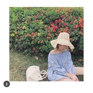 🚚 Pazzo韓國製草編帽
