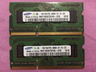 Samsung DDR3 1GB X2