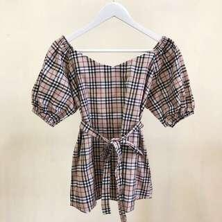 burberry tied blouse