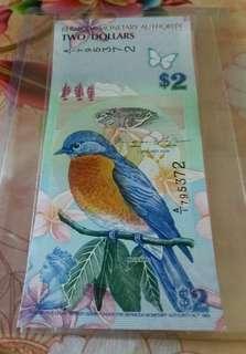 百慕達2元(北美洲知更鳥)
