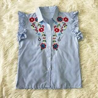 Top flower embroi