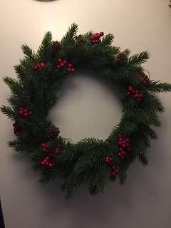 PE Pine Berries Christmas Wreath 30 cm