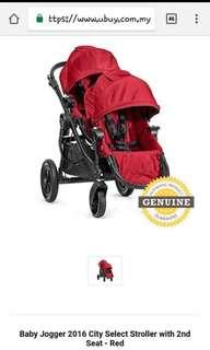 Baby Jogger 2016 City select stroller with 2seats