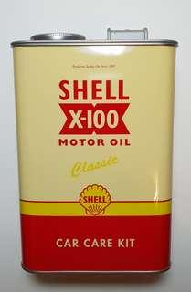 Shell Oil Can Box with Sponge and Scented Tree