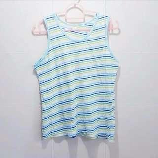 🚚 Minimalist Plain Stripes Sleeveless Top