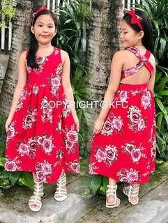 X~back Maxi dress wd hairbow