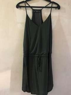 Brand New - Mango Dark Green Strap Dress