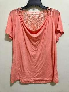 Salmon lace top