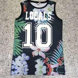 🚚 Jersey Floral Black Top For Ladies