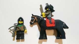 Lego castle 人仔 士兵x2 馬x1
