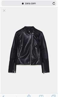 🚚 Zara black leather jacket