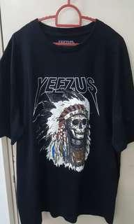 Yeezus Red Indian Black Short Sleeve T-Shirt