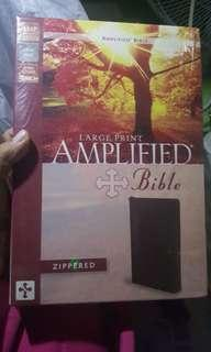 Amplified Large Print Bible with zipper