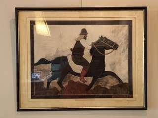 🚚 毛皮畫-騎士