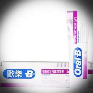 ORAL-B 清涼薄荷味 牙齒及牙肉護理牙膏 100g