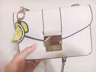 🚚 ZARA 檸檬🍋單肩風琴側背包