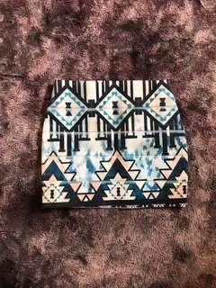 Aztec print bandage skirt size 4-6