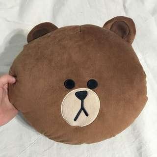 Line熊大暖手枕