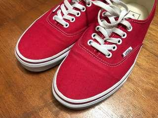 🚚 Vans authentic red US9