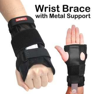 🚚 Metal Support Wrist Brace / Wrist Protection for Sprain Recovery Pain Relief  / Adjustable Hand Splint Guard Joint Sleeve Wrap Band