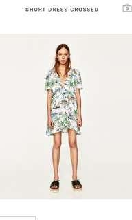 Zara wrap summer dress