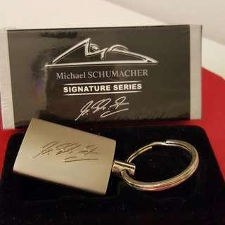 Michael Schumacher Signature Keychain