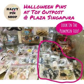 🎃Halloween Enamel Pins at Toy Outpost @ Plaza Singapura! Buy 5 get 1 free promo applicable!