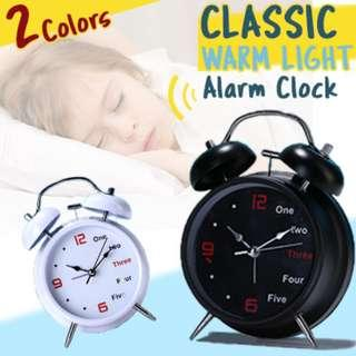 🚚 ★Classic Alarm Clock with ★Warm Light ★Loud Ring and