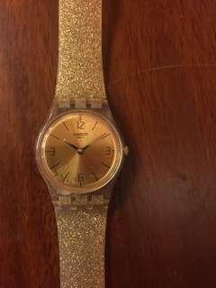Swatch long golden strap