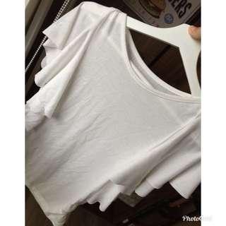 🚚 白色造型袖上衣