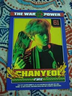 Chanyeol Power postcard