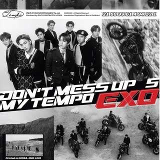 ✨ [EMS PO] EXO DON'T MESS UP MY TEMPO ALBUM