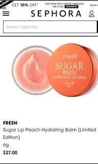 Limited Edition FRESH Sugar Peach Hydrating Lip Balm