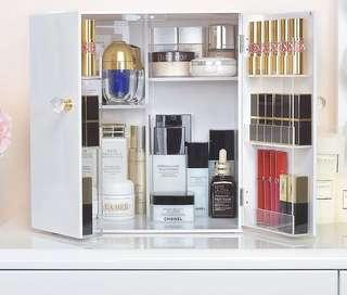 Brand New Acrylic White makeup/skincare Organisers