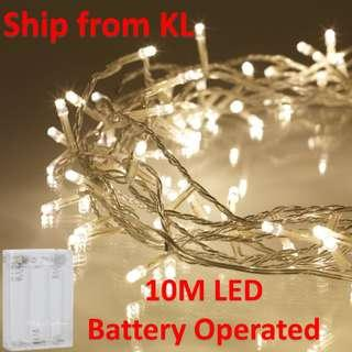 10M 100 LED BATTERY OPERATED 10 M Fairy String Light Deco