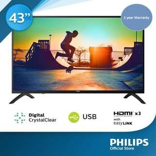 LED TV Philips 43 inch Digital Ready  (New in box, 1 year Philips Warranty)