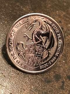 英國龍鉑金幣 platinum coins