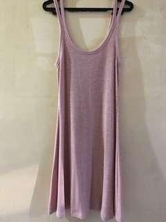 Almost Brand New Forever 21 Knit Strap Dress, Baby pink, Small