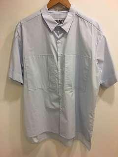 🚚 淡藍色 短袖襯衫