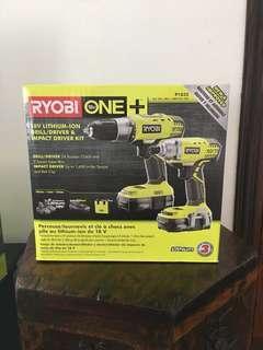 RYOBI Drill/Driver and Impact Driver Kit
