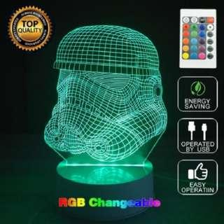 Star Wars Dearth vader storm trooper 3D LED Night Light