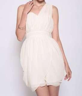 BNWT White Chiffon Dress