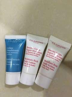 Clarins sample three set
