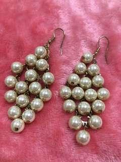 Pearl Cluster Drop Dangling Earrings