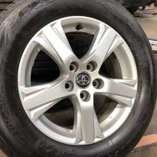 Used Original 16 inch TOYOTA Alphard Vellfire Rim and Tyres (set of 4)