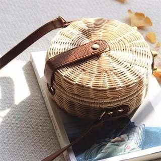 Rattan Basket Picnic Crossbody / Sling Bag