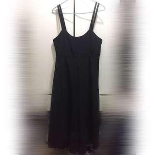 黑色吊帶裙褲 black romper