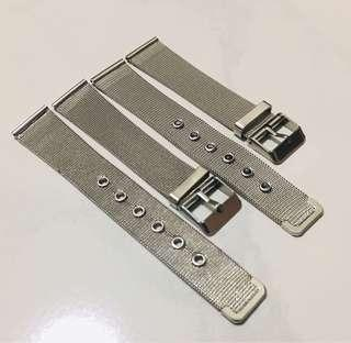 2pcs 18mm Stainless Steel Watch Band For Sale