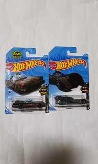 2x Hot Wheels BATMOBILE Tv Series & BATMAN Movie