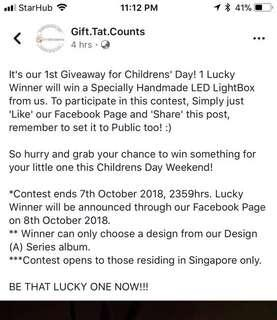 Our 1st Giveaway for Childrens Day!